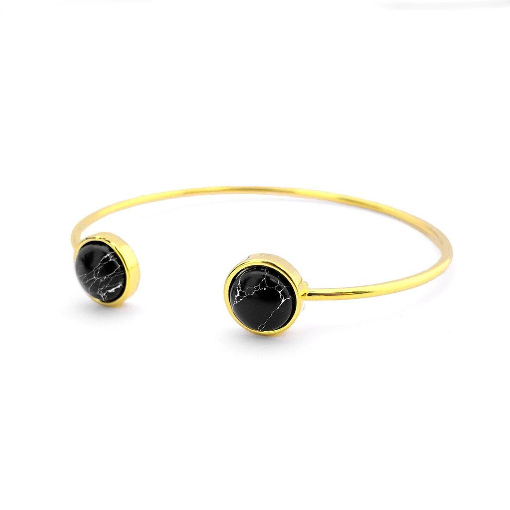 Majolie  - Rond Maya Black Gold Jonc Bracelet -   - 1
