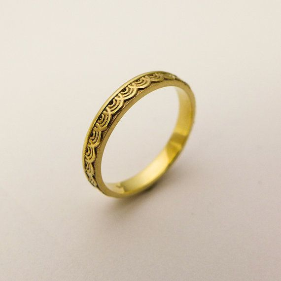 14k 18k Solid Gold Simple Wedding Band For Women Thin Gold Band