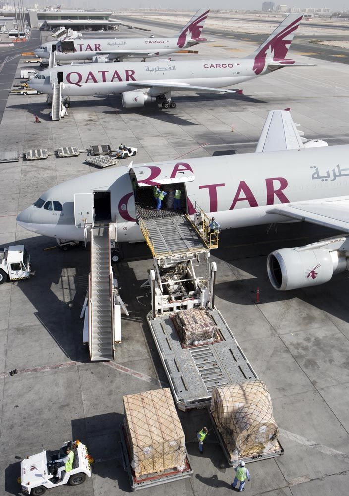 Qatar Airways Airbus A300 600 Cargo Freighter Aeropuertos Aviones Aviacion