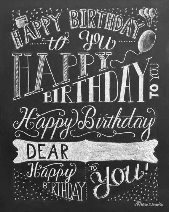 Happy Birthday To You Cumpleanos Feliz HAND LETTERING