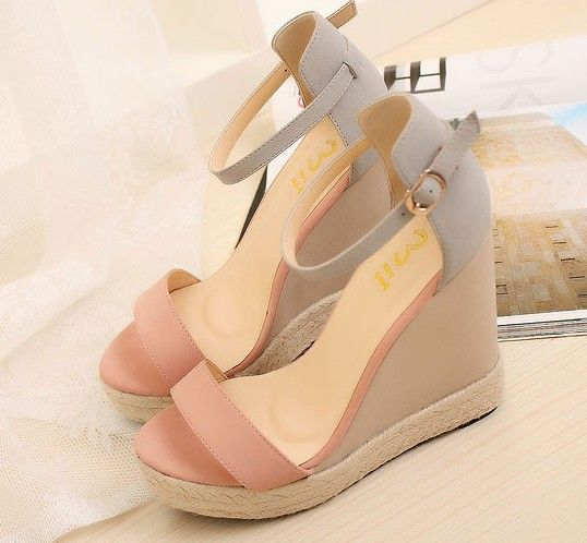 US $26.68 |Size 34 38 Pink Summer Women Platform Wedges Sandals Female Shoes 2015 Mixed Colors Shoes High Heel Women Ankle Strap 4010|Women's Sandals|Shoes - AliExpress