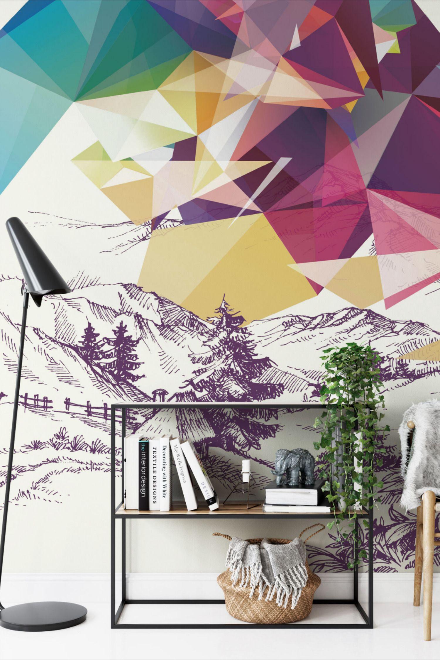 Idyllic Pop Peel And Stick Wallpaper Abstract Wallpaper Wallpaper