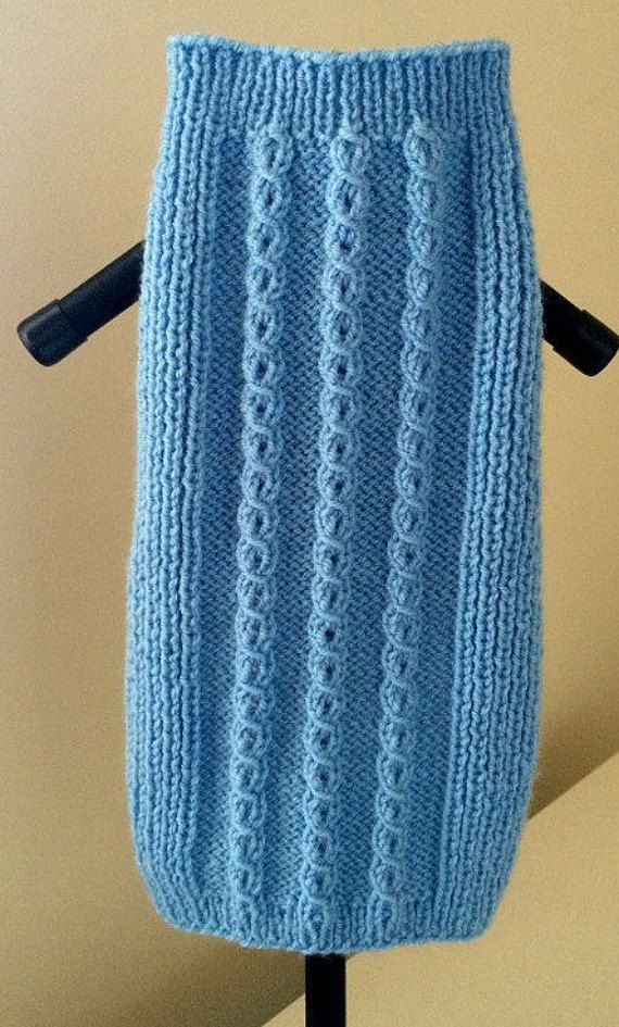 Custom made cable dog sweater by PollyandMolly on Etsy