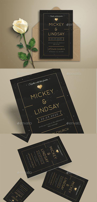 Simple Night Wedding Invitation Template PSD, AI   Card & Invite ...