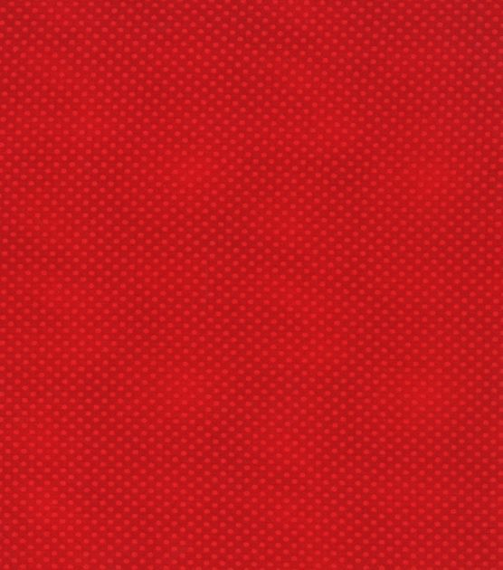 Keepsake Calico Fabric Mini Tonal Dots Red