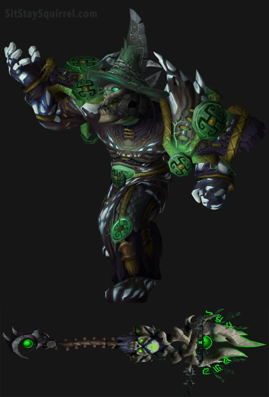Orc Male Destro Warlock Artifact Transmog World Of Warcraft