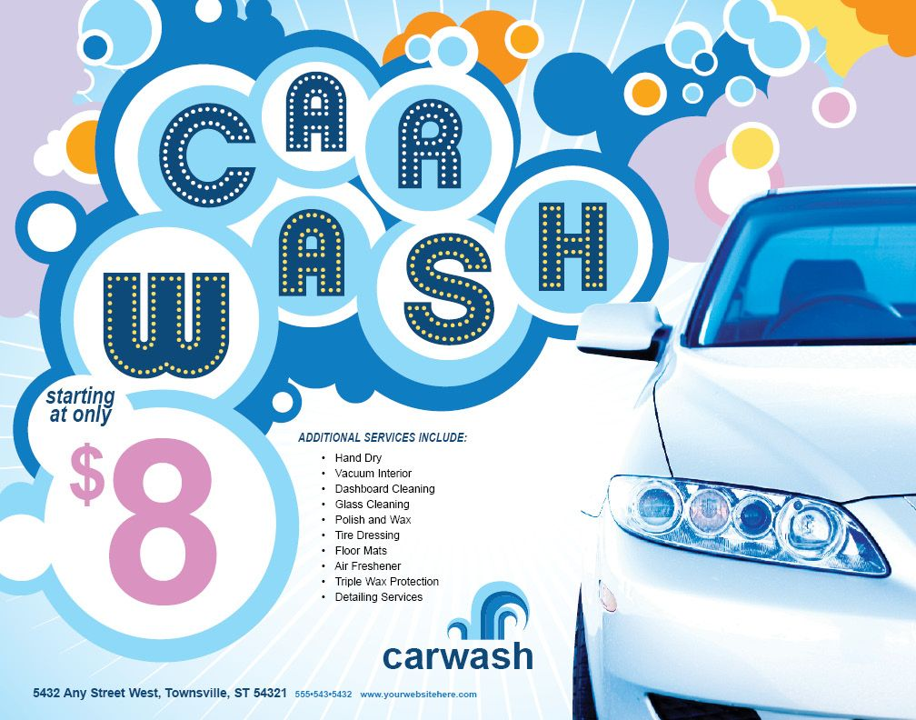 Mobile Car Wash Flyer Stuff to Buy Pinterest – Car Wash Flyer Template