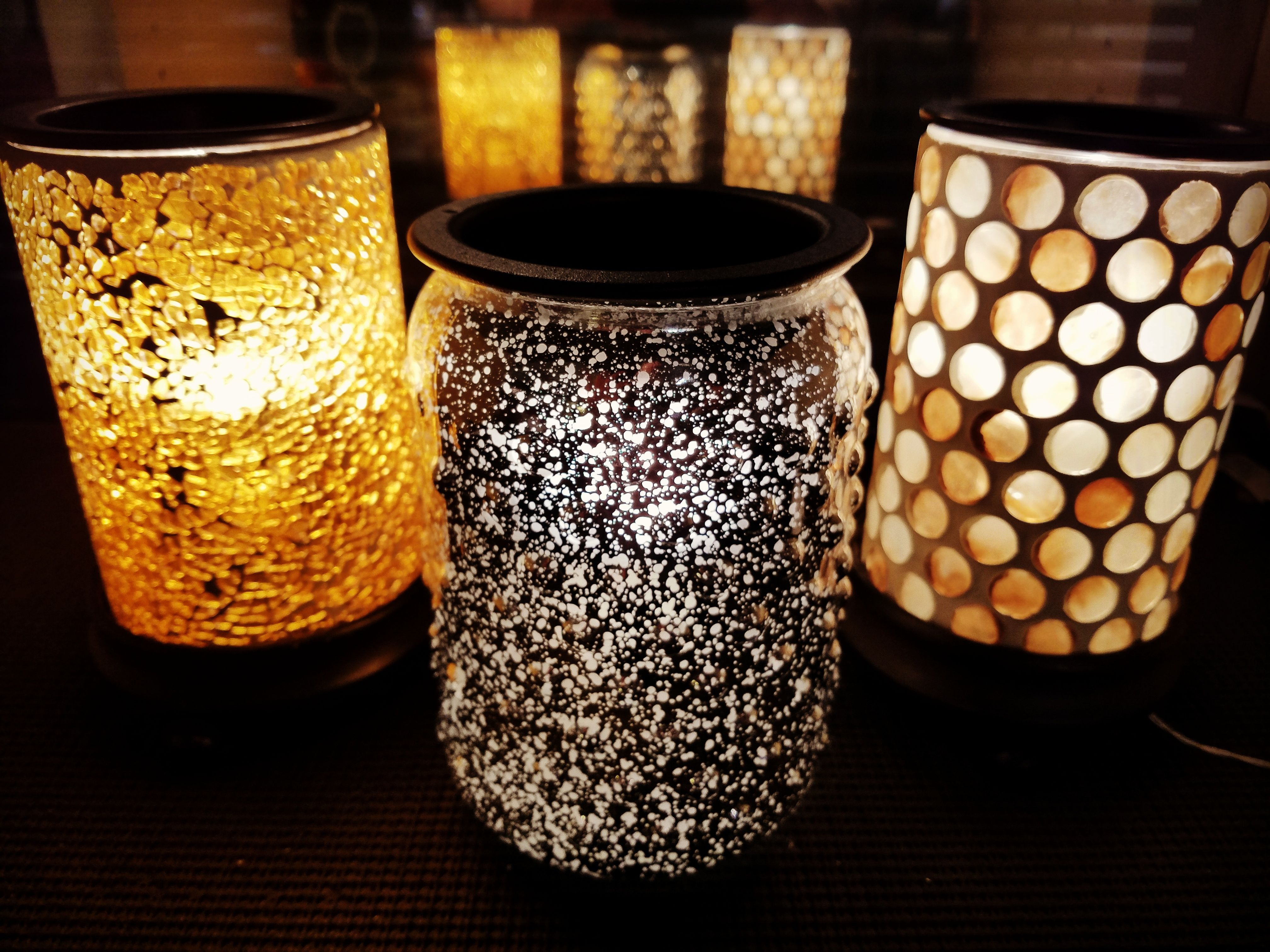 love love love ❤ these mercury glass and mosaic wax warmers