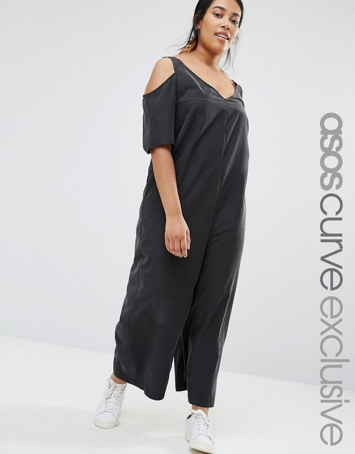0badf791e24 ASOS Curve ASOS CURVE Cold Shoulder Minimal Jumpsuit -- To view further for  this item