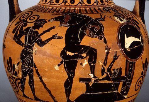 Hercules Fourth Labor The Erymanthian Boar Greek And Roman Mythology Ancient Greek Pottery Herakles
