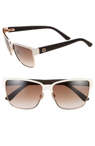 NEEEEEEEED.  Gucci 60mm Retro Rectangle Sunglasses available at #Nordstrom