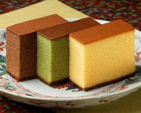 Kasutera Or Honey Castella No Bake Cake Asian Desserts Blueberry Cake
