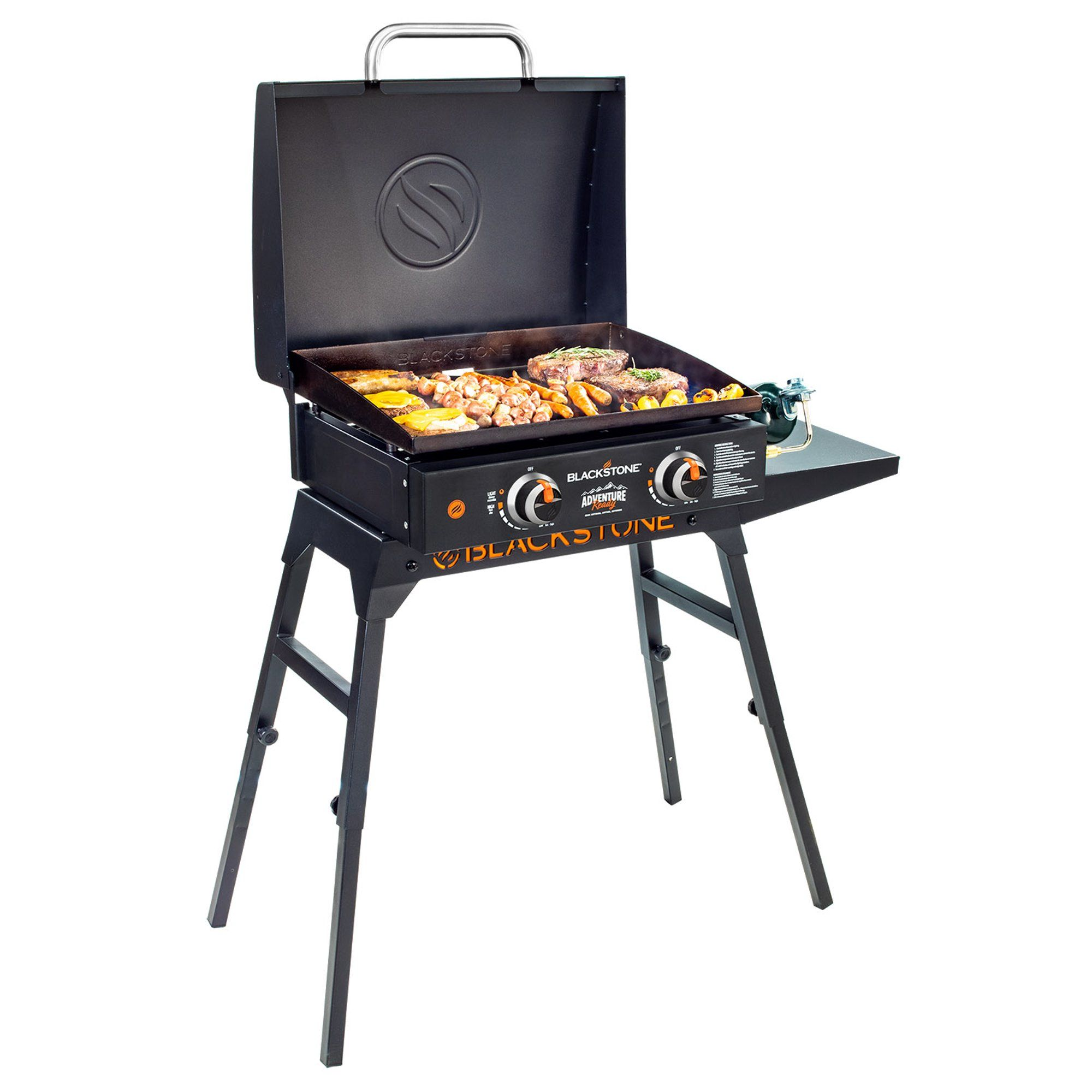 Blackstone Adventure Ready 22 Griddle With Hood Legs Adapter Hose Walmart Com In 2020 Cooking Accessories Blackstone Outdoor Cooking