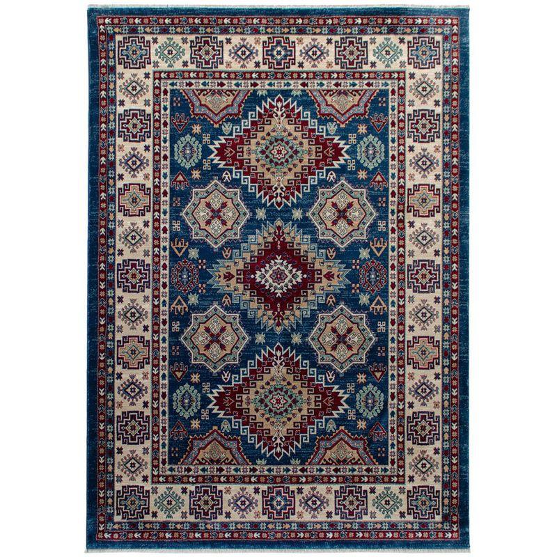 Tapis Ethnique Berbere Doux En Polyester Inuit Bleu 140x200