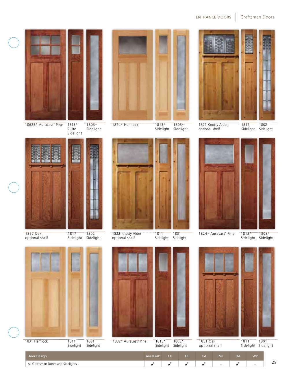Premium Wood Exterior And Interior Doors Craftsman Exterior Door Exterior Doors With Sidelights Craftsman Front Doors