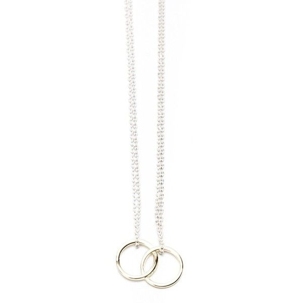 Gold and White Double Chain Necklace (12 AUD) ❤ liked on Polyvore featuring jewelry, necklaces, accessories, bijoux, white gold jewellery, white necklaces, yellow gold chain necklace, gold circle necklace and circle chain necklace