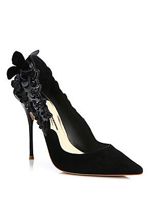 Sophia Webster Harmony Butterfly Suede & Patent Leather Pumps