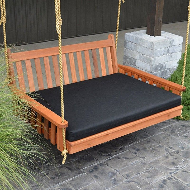 A L Furniture Co Traditional English Red Cedar Swing Bed In 2020