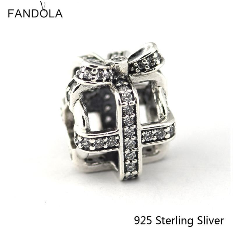 91729187f CKK 925 Sterling Silver Jewelry All Wrapped Up, Bow Original DIY Charms  Beads Fits Bracelets For Jewelry Making. Yesterday's price: US $13.80  (12.27 EUR).