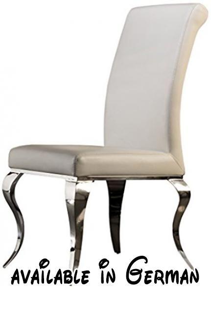 B00TYO6JMG  Schuller 792538Barock Stuhl Stahl weiß 67x 48x 103cm - edelstahl outdoor küche