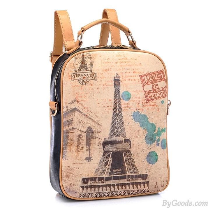 f16bd0b4be7f Retro Graffiti Eiffel Tower Backpack   Shoulder Bag only  34.99 ...