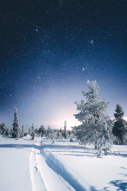 Riisitunturi Finland Ii Canvas Art Print By Steffen Fossbakk Winter Landscape National Parks Finland
