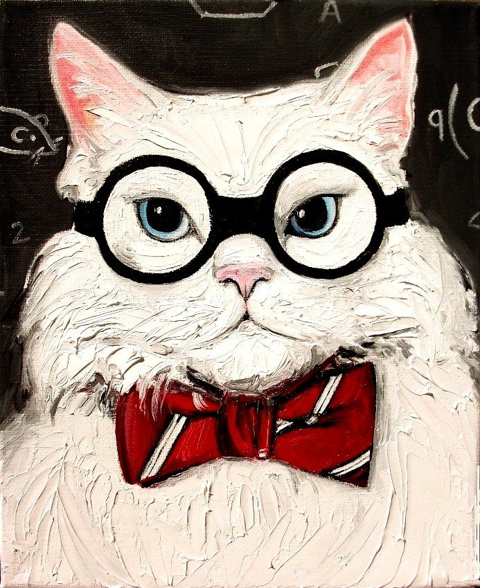 DPW Fine Art Friendly Auctions - Chemistry Cat Contemplates The... by Aja Apa-Soura