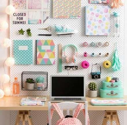 39 Neue Ideen Bastelraum Stecktafel-Ideen-Schreibtische # Bastel-Schreibtische #Ideen # Stecktafel #Zimmer …