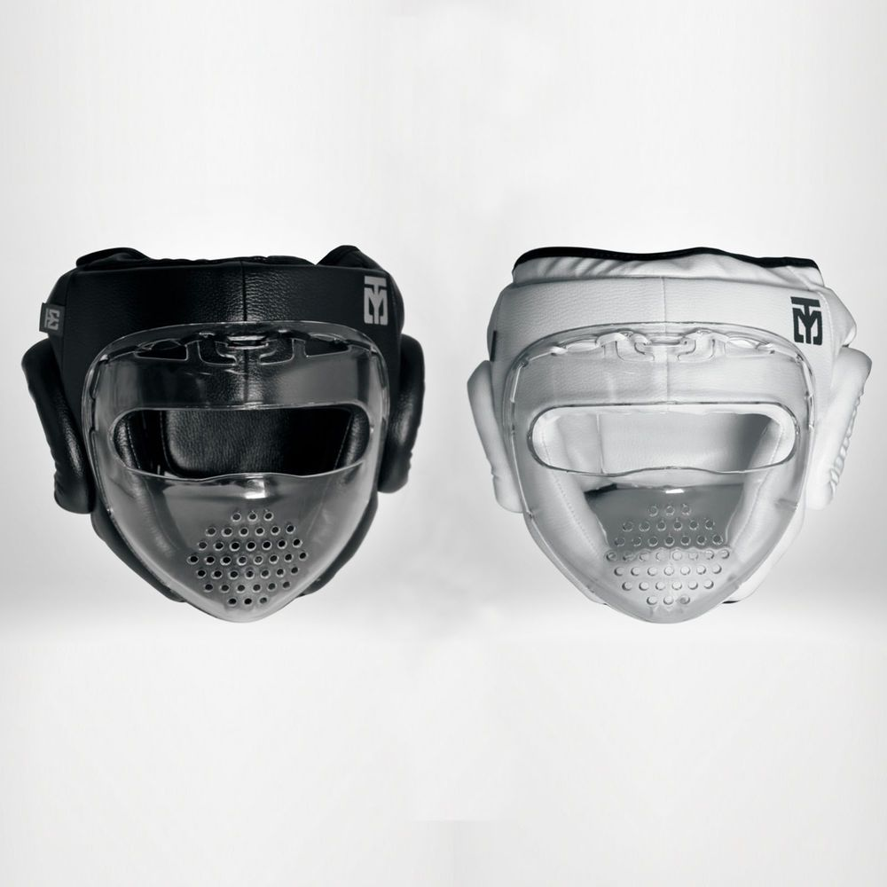 Clear Face Shield Protection Mask Type A Covers Guards Hook Loop Closure TKD MMA