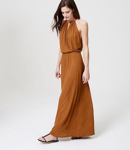 Halter maxi dresses for the beach