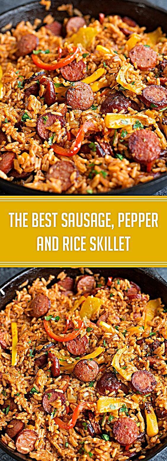 ★★★★★ 57 reviews: The Best Sausage, Pepper and Rice Skillet | Smoky
