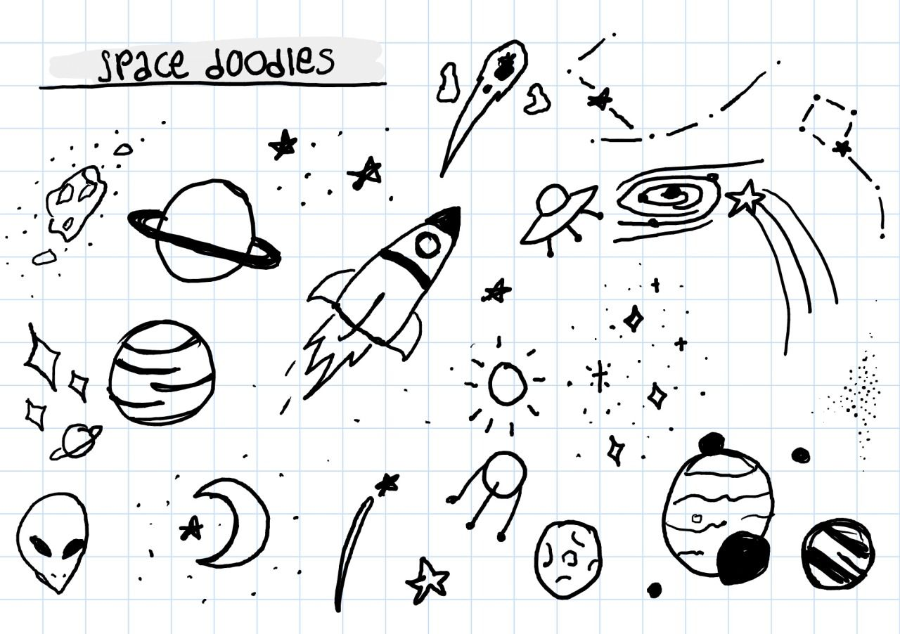 "college-cafe: ""Little space doodles "" | College Bullet Journal"