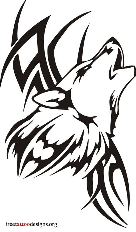 Tribal Wolf Tribal Drawing Pinterest Wolf Tattoos Tattoos And