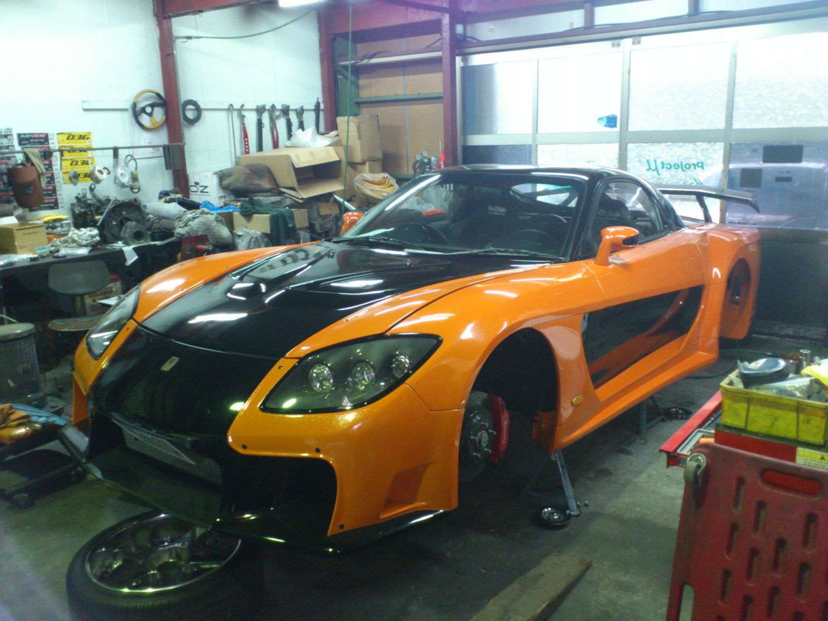 FD3S RX7 made by VeilSide  This car used at movie