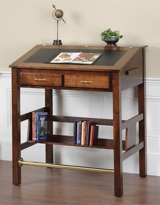 Amish Executive Stand Up Desk WOW. This Looks Great. A Great Accent To A  Solid Wood Office