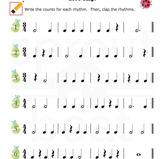 Music-Worksheets-Easter-Rhythm-001 | nuty | Pinterest | Search ...