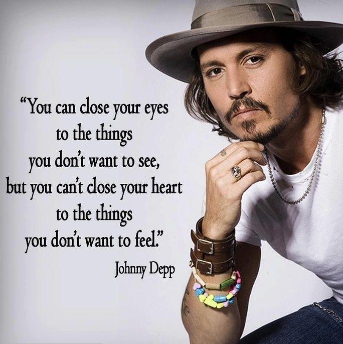 Follow your heart! #johnnydepp #quotes #inspirational