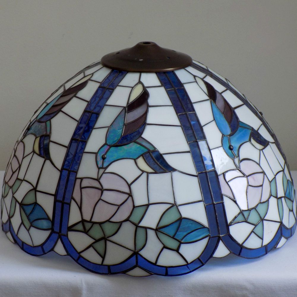 Large Stained Glass Lamp Shade Hummingbirds - Bird Floral Vintage Tiffany  Style | Home u0026 Garden, Lamps, Lighting u0026
