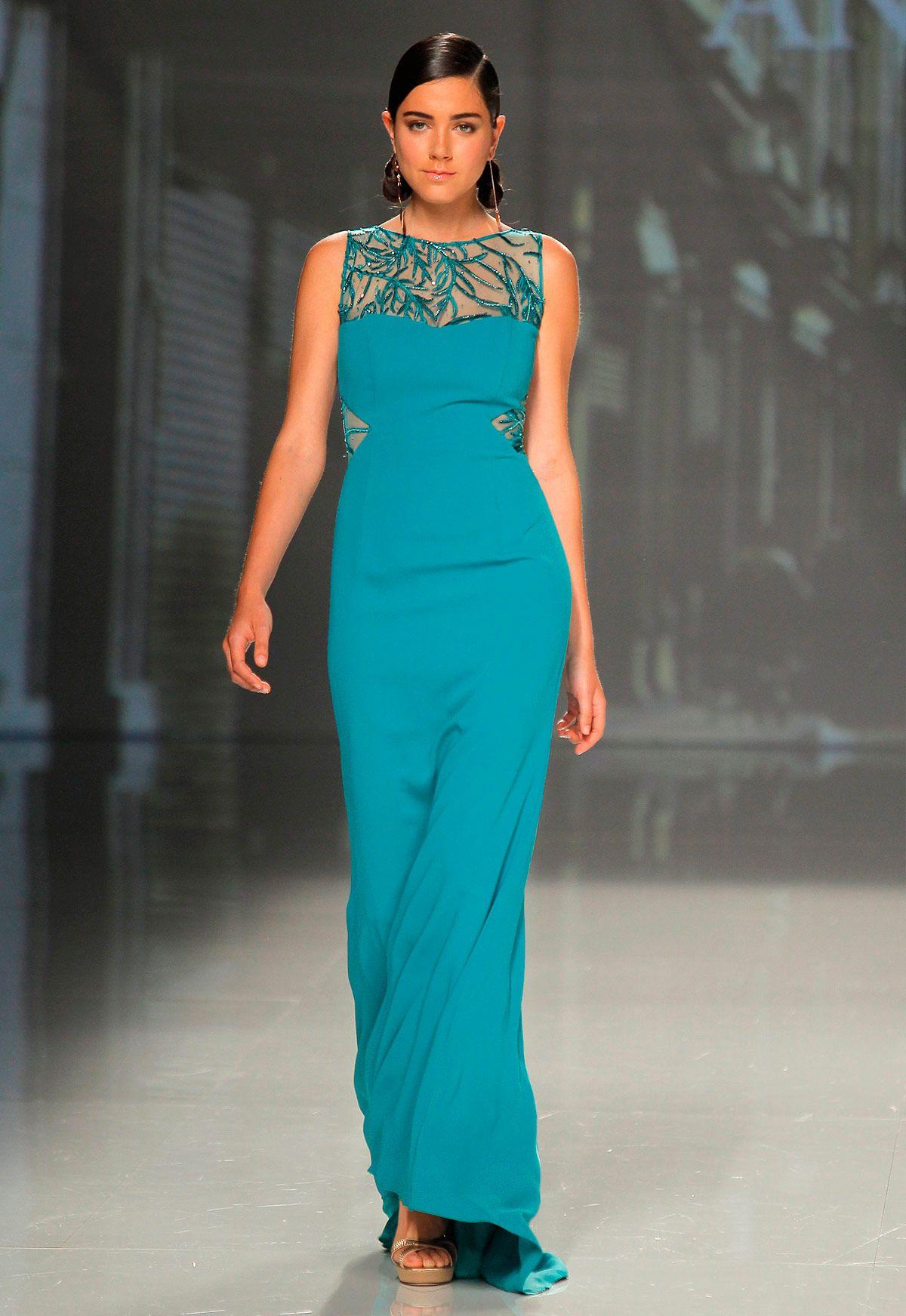 Vestido de fiesta Ana Torres colección 2018 modelo 18028A. Eva ...