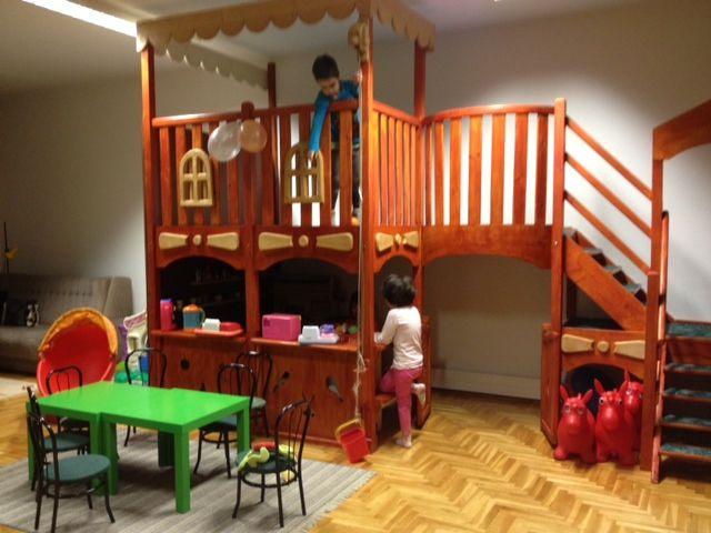 Indoor Play Loft with 8 foot slide! - HOME SWEET HOME | Kid ...