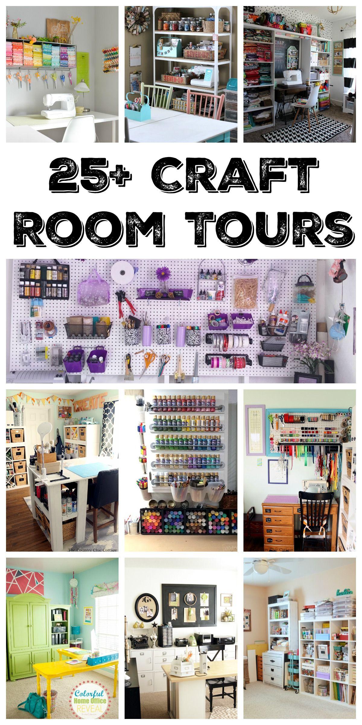 25+ Organized Craft Rooms #craftroomideas
