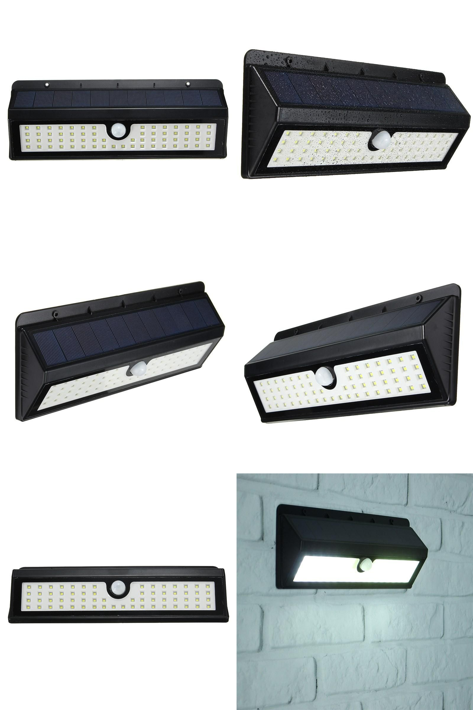 Visit To Buy 900lm 62 Led Solar Light Pir Motion Sensor Power No Wiring Wirless Wall Lamp For Outdoor Garden Waterproof Security Pathway Emergency