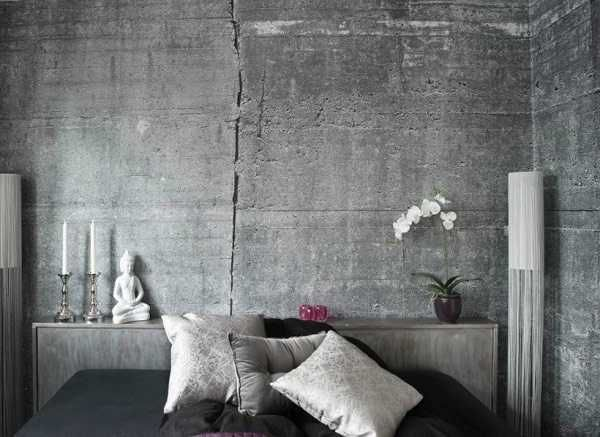 Modern wallpaper patterns creating realistic concrete wall design