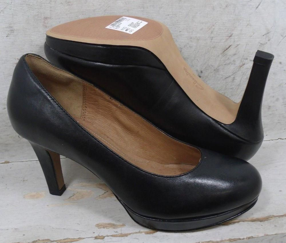 ca02c4e25a9 NEW Clarks Womens Delsie Bliss Black Leather Heels Shoes 01627 size mm 6 M   fashion  clothing  shoes  accessories  womensshoes  heels (ebay link) ...