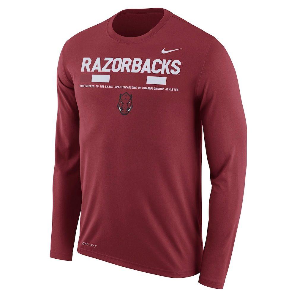 watch pretty cool on wholesale Men's Nike Arkansas Razorbacks Dri-FIT Legend Staff Long-Sleeve ...