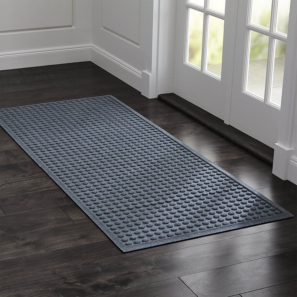 Shop Thirsty Dots Slate 30 X71 Doormat This Absorbent Thirsty Mat In Warm Neutral Slate Grey Wi Indoor Door Mats Entryway Mat Indoor Door Mat