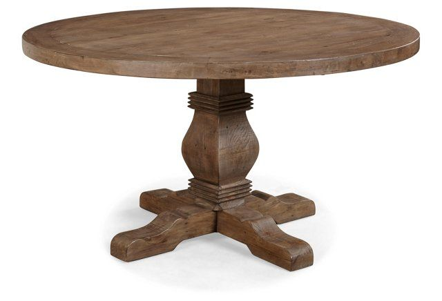Caleb 55 Round Dining Table Natural Dining Table Luxury