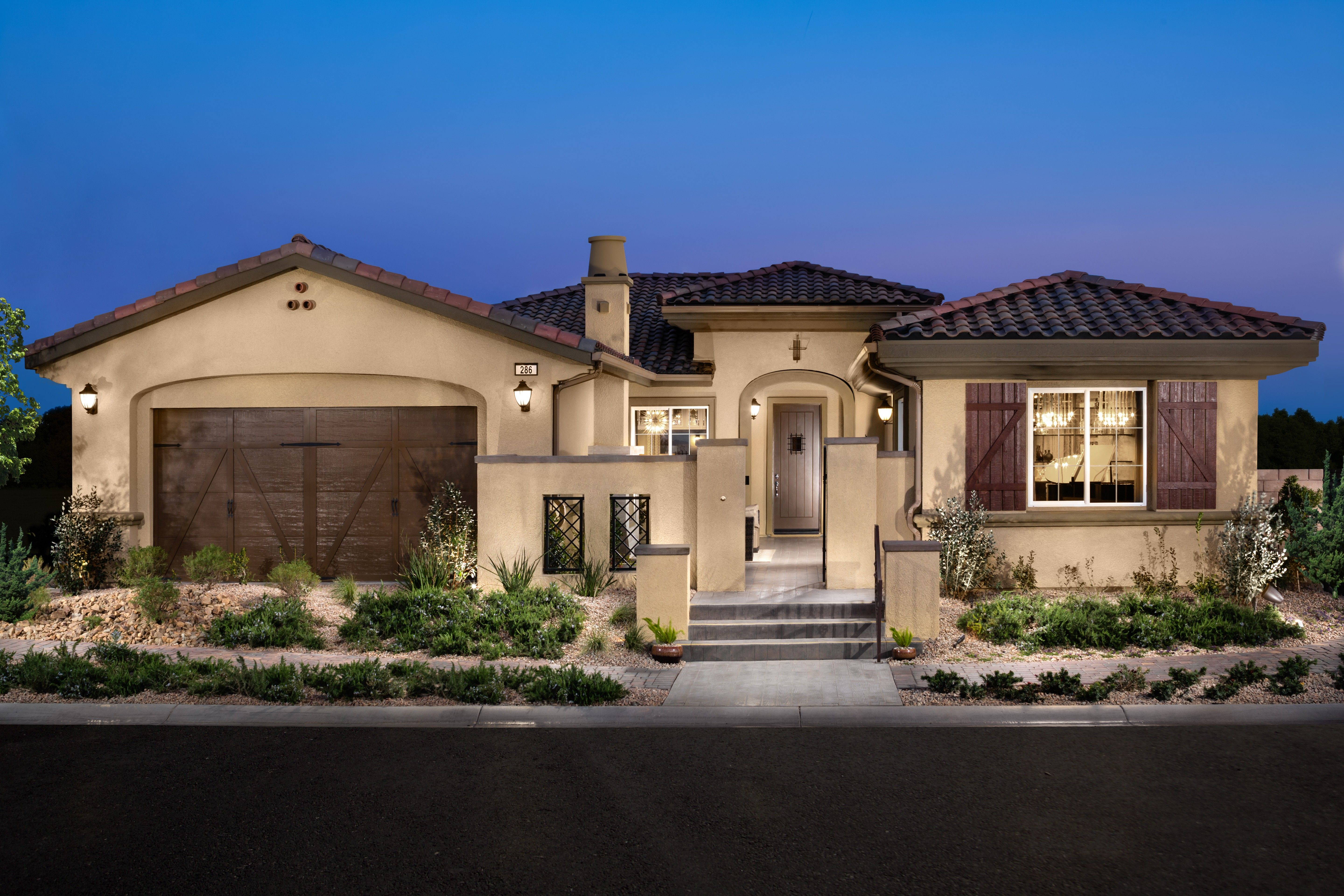 Nevada Luxury New Homes For Sale By Toll Brothers Mediterranean Homes Mediterranean House Plans Small House Exteriors