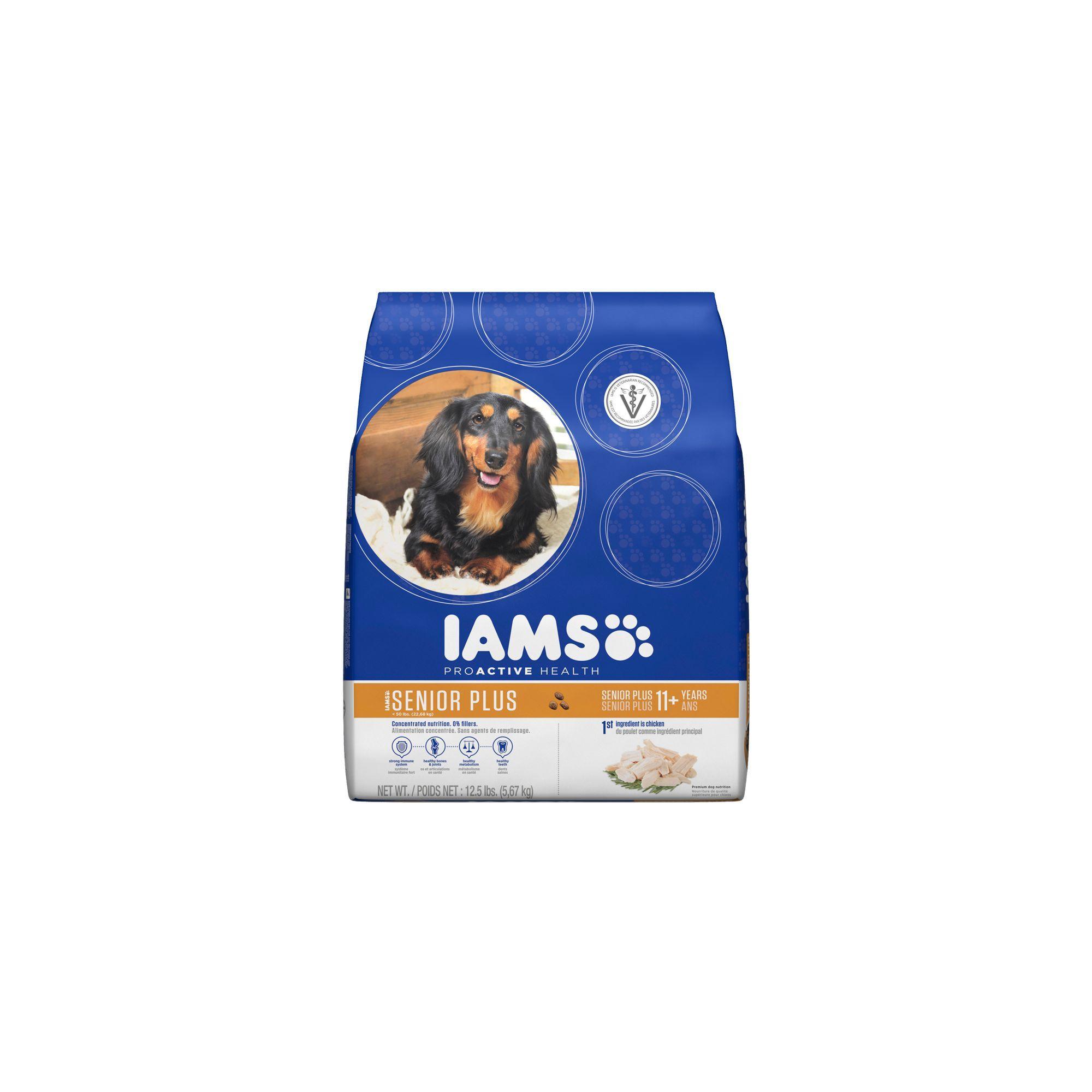 Iams Proactive Health Senior Dog Food Size 12 5 Lb Chicken