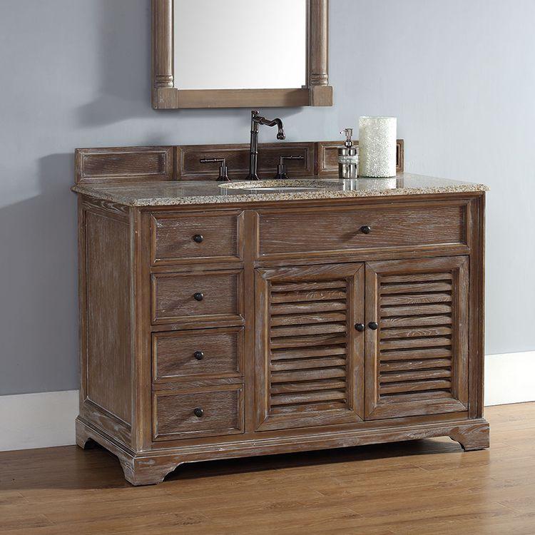 Driftwood 238-104-5211 James Martin Savannah 48/' Single Vanity Cabinet